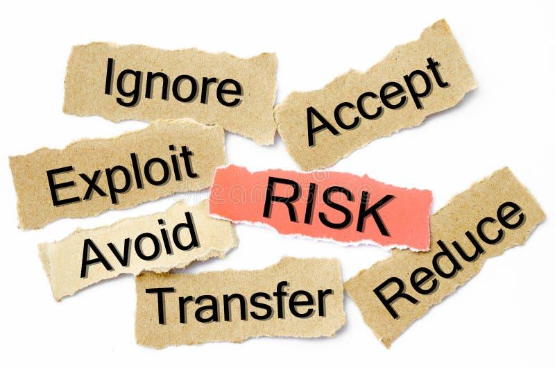 Process för riskledning arkivfoton