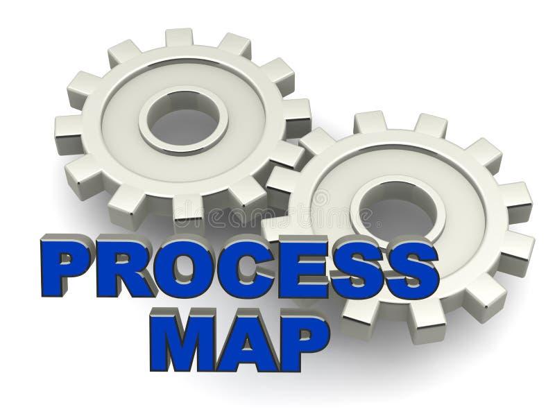 Process kartlägger royaltyfri illustrationer