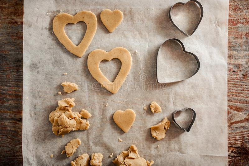 The process of making homemade cookies. royalty free stock photography