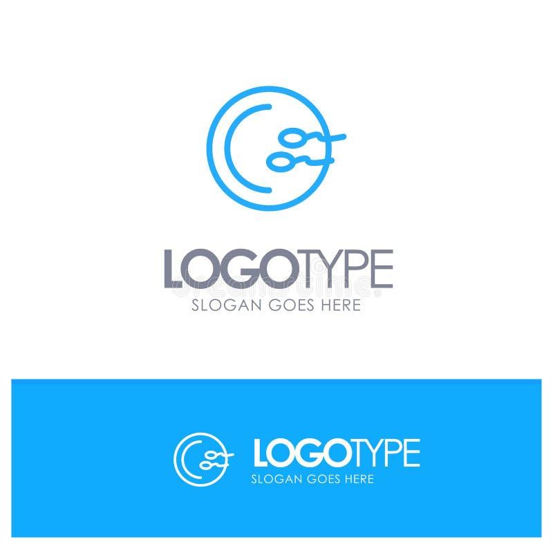 Process, Medical, Reproduction, Medicine Blue Outline Logo Place for Tagline royalty free illustration