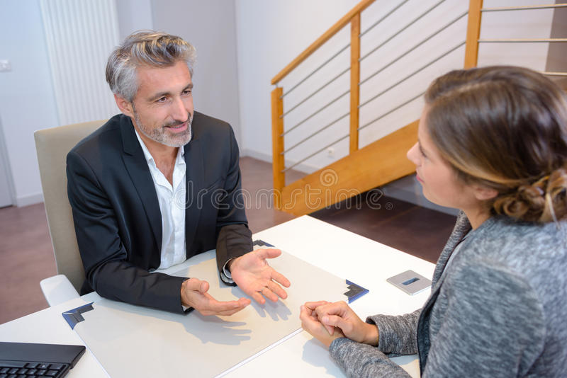 In process negotiation stock photo