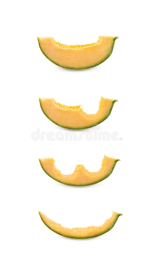 Free Process Of Eating A Melon Stock Photo - 107563630