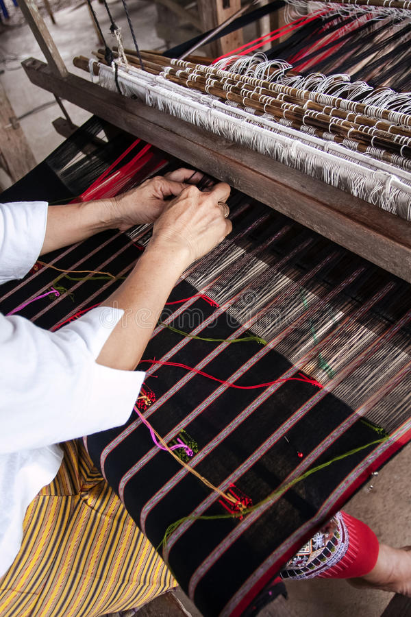 Free Process Of Weaving, Dyeing, Thaisilk Royalty Free Stock Images - 35338559
