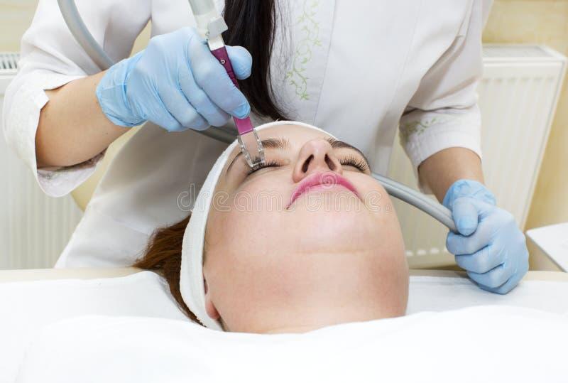 Process på kliniklipomassagen royaltyfri fotografi