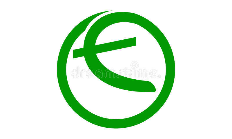 Process Planner Center Letter E. Logo vector illustration, can be used for any purpose stock illustration