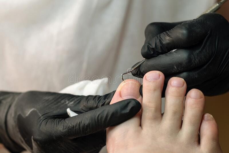 Pedicure. Chiropody. Foot care. stock photo