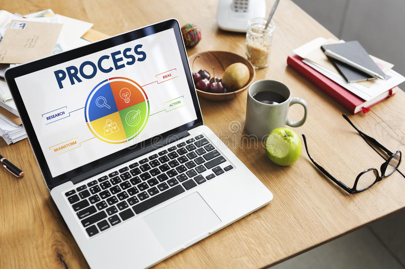 Process Strategy Brainstorm Action Concept royalty free stock image