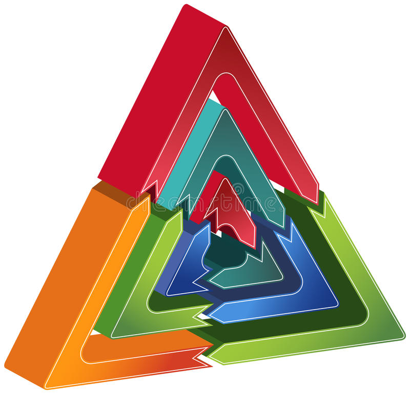 Process Triangle Diagram stock image