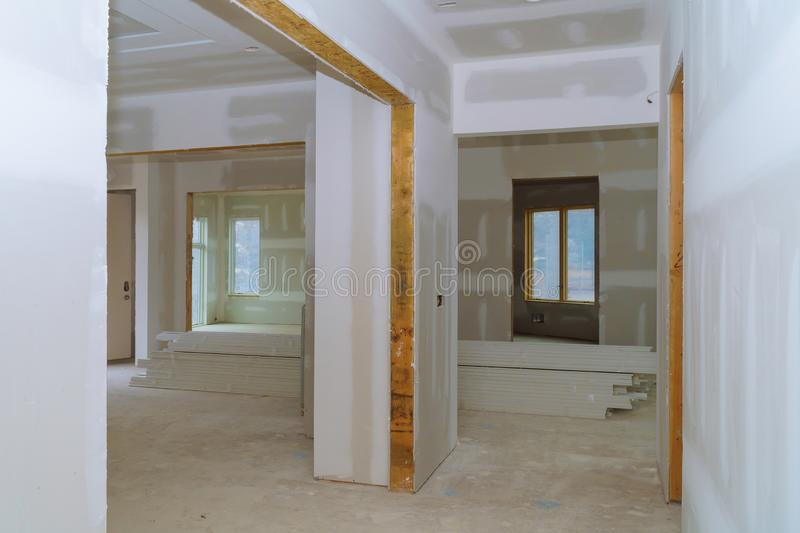 Process for under construction, remodeling, renovation, extension, restoration and reconstruction stock image