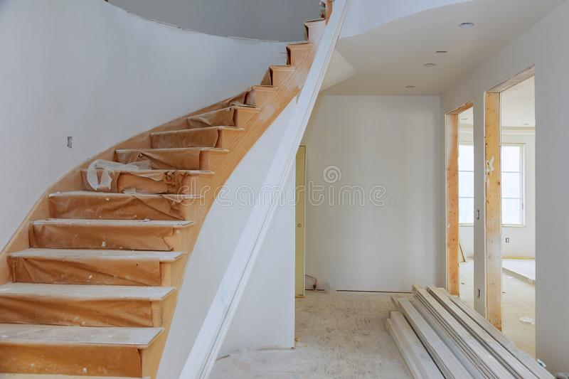 Process for under construction, remodeling, renovation, extension, restoration and reconstruction royalty free stock photography