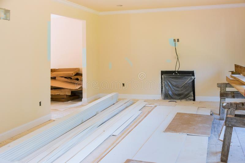 Process for under construction, remodeling, renovation, extension, restoration and reconstruction royalty free stock photo