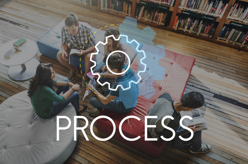 Process Word Settings Icon Simple Concept stock photos