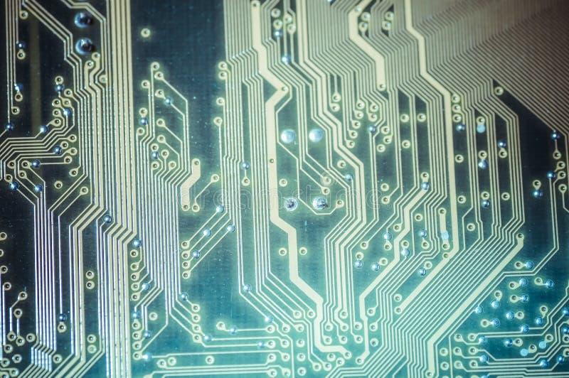 Processador, cartão-matriz, computador e backgrou moderno da eletrônica imagens de stock