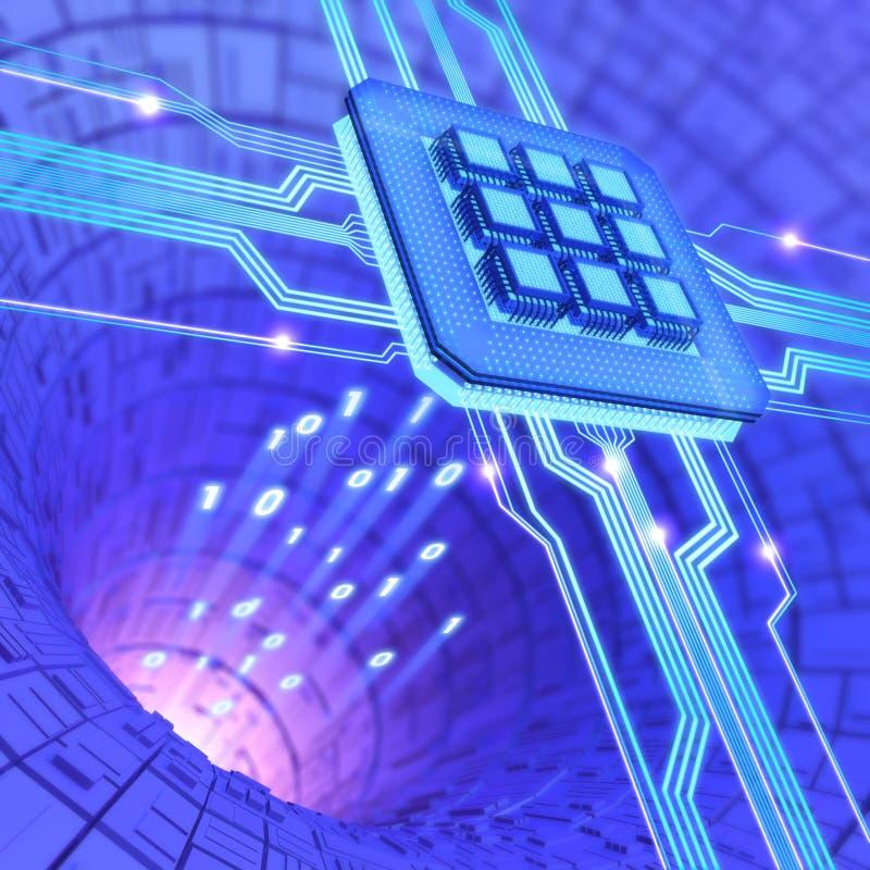 Processador central ilustração stock