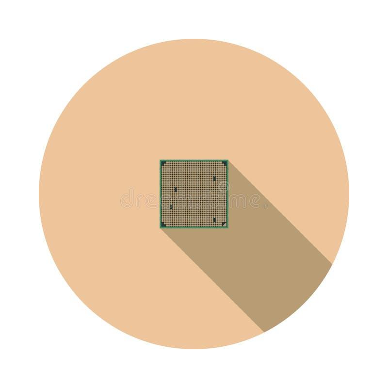 Processador central da imagem do vetor ilustração royalty free