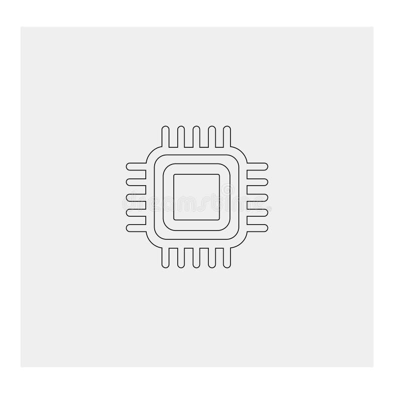 Processador central da unidade do processador central Fundo cinzento Ilustração do vetor ilustração stock