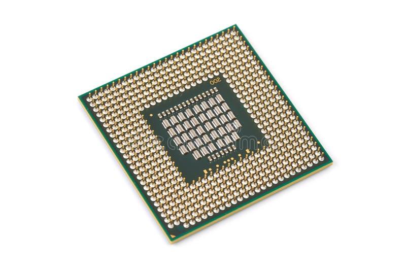 Processador central do átomo do processador do computador imagens de stock