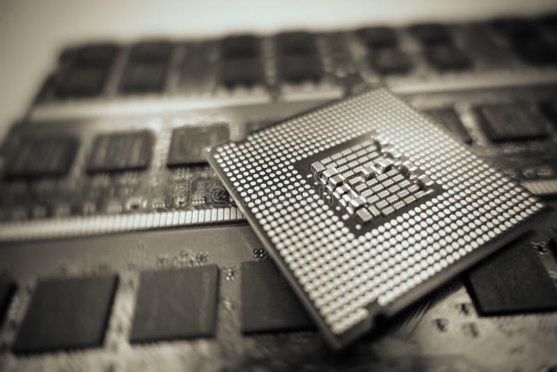Processador central do computador imagens de stock