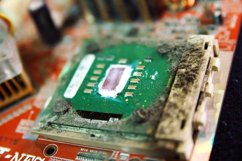 Processador central sujo imagens de stock