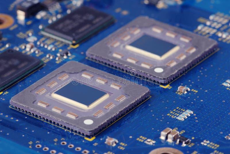 Processador dobro fotografia de stock royalty free