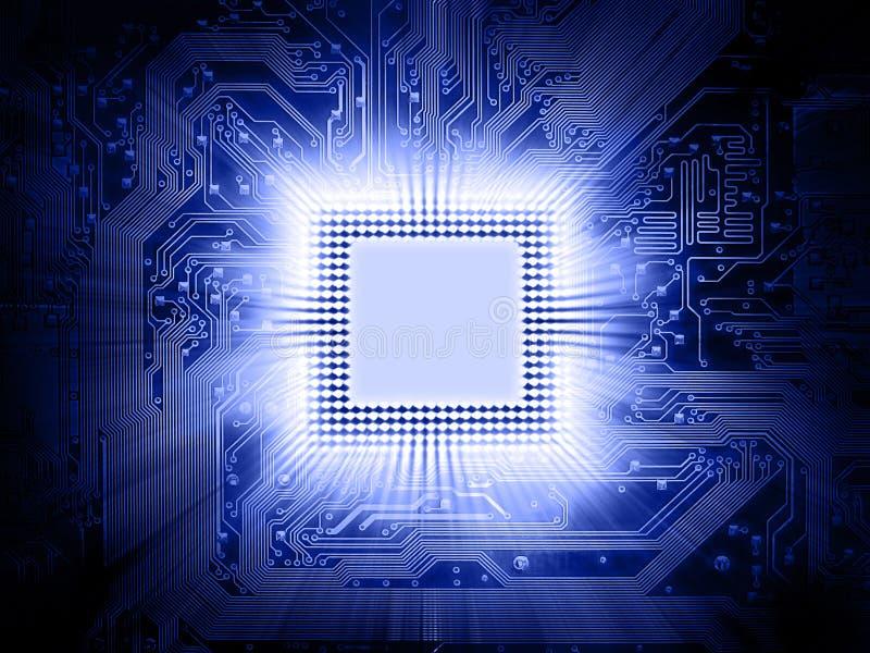 Processador e cartão-matriz ilustração stock