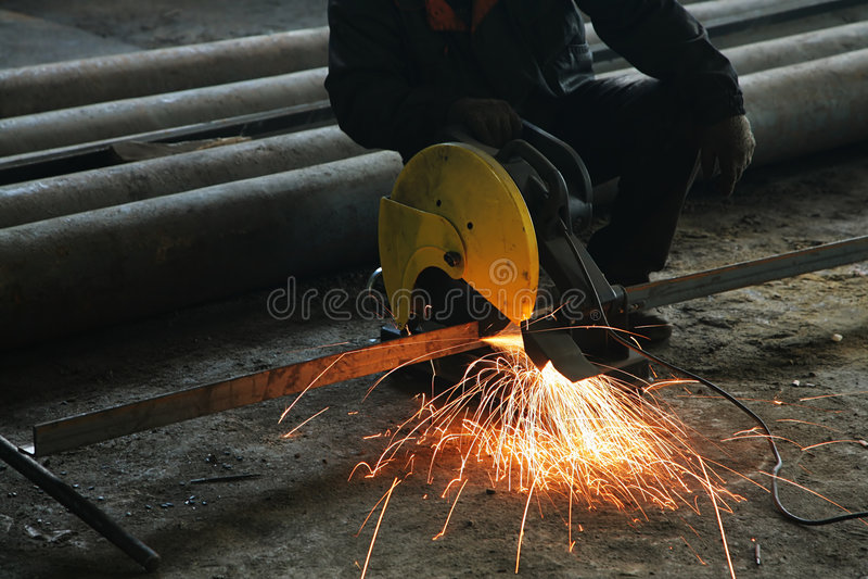 Processamento do metal fotografia de stock