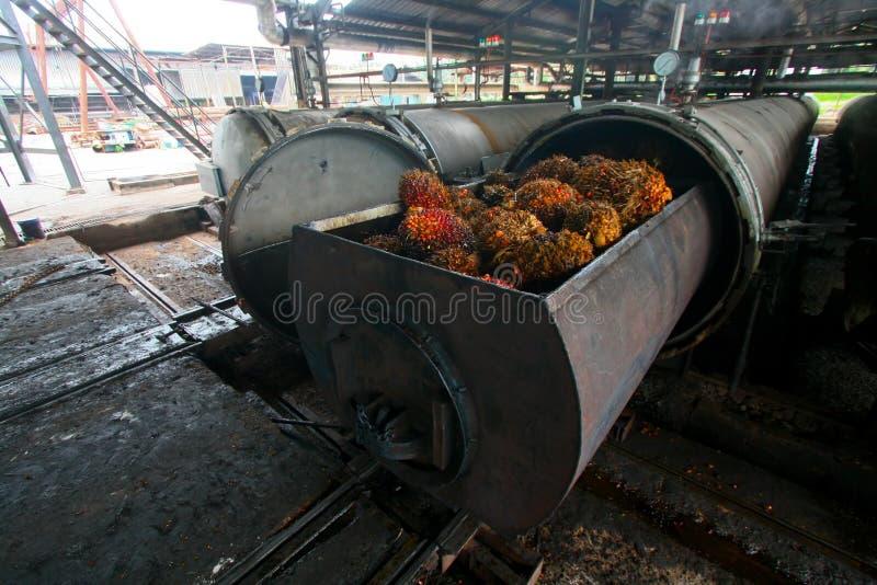 Processamento do petróleo de palma imagens de stock