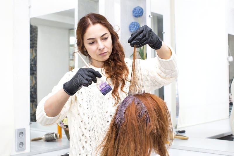 Processar som färgar hår arkivbilder