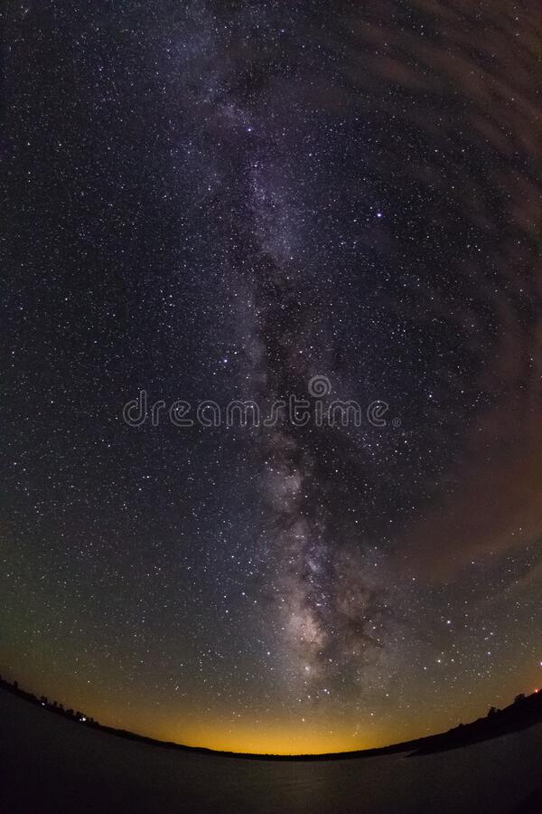 [Processed] Milky Way over Ashurst Lake stock images