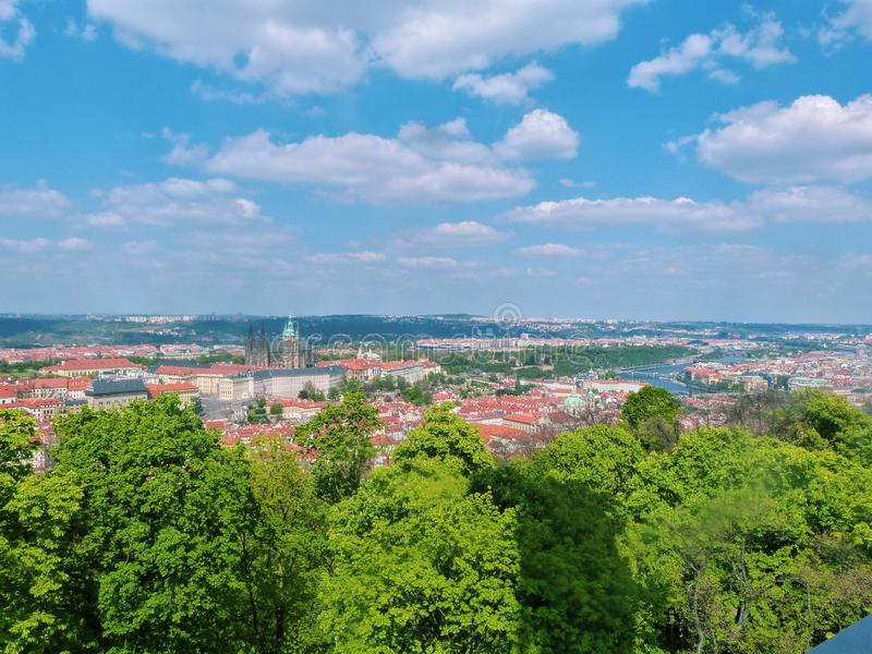 Panorama of the city - Prague, Czech royalty free stock images