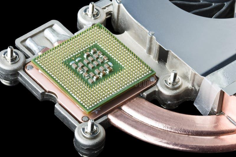Processeur, radiateur et ventilateur d'ordinateur images libres de droits
