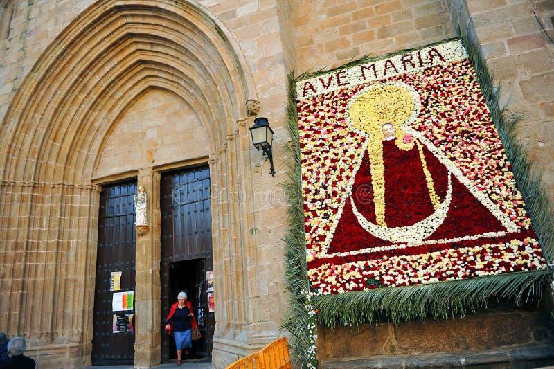 Procession av oskulden av berget, Caceres, Extremadura, Spanien fotografering för bildbyråer