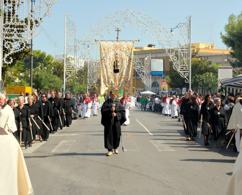 Procession av skyddshelgonet arkivfoto