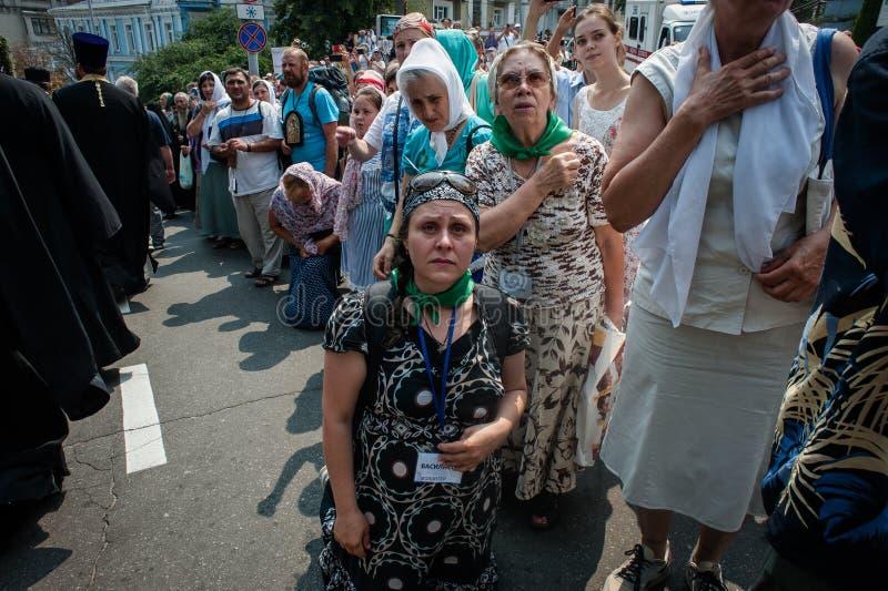 Procession för fred i Kyiv arkivbilder