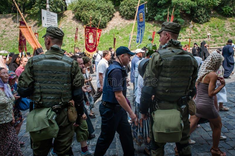 Procession för fred i Kyiv royaltyfri foto
