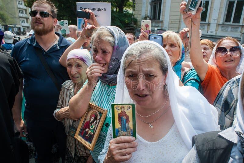Procession för fred i Kyiv arkivbild