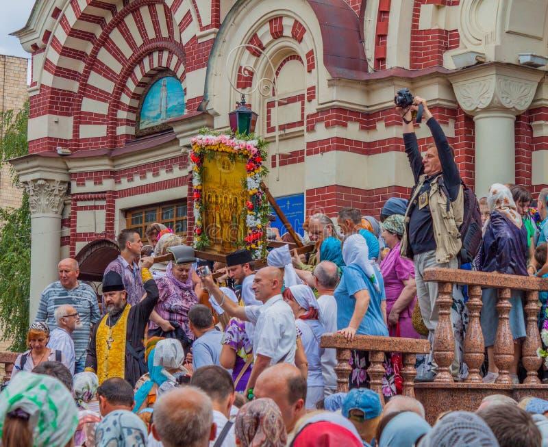 Procession för fred 19th för domkyrkaårhundrade för annunciation 17 kharkov för stad landmark ukraine ukraine Kharkiv Juli 10, 20 fotografering för bildbyråer