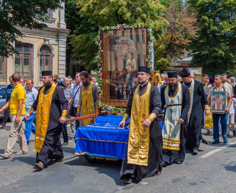 Procession för fred ukraine Kharkiv Juli 10, 2016 arkivfoton