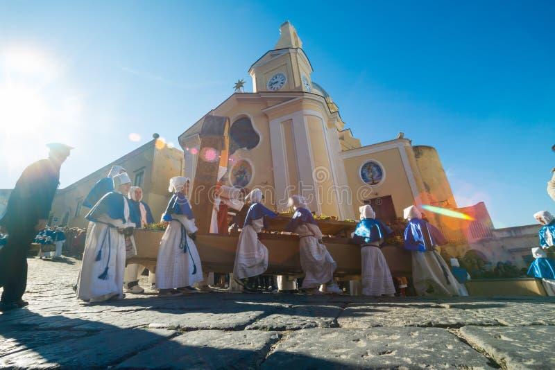 Procession för PROCIDA-PÅSKlångfredag arkivbilder