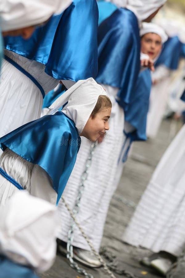 Procession för PROCIDA-PÅSKlångfredag arkivbild
