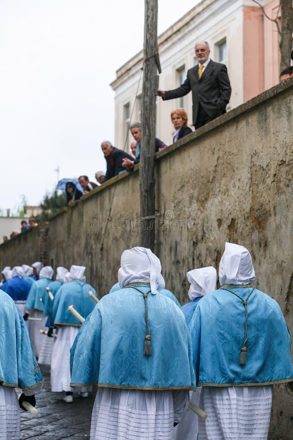 Procession för PROCIDA-PÅSKlångfredag arkivfoto