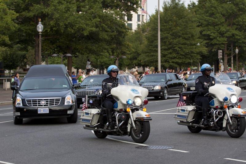 Procession funéraire pour le sénateur Kennedy photo libre de droits