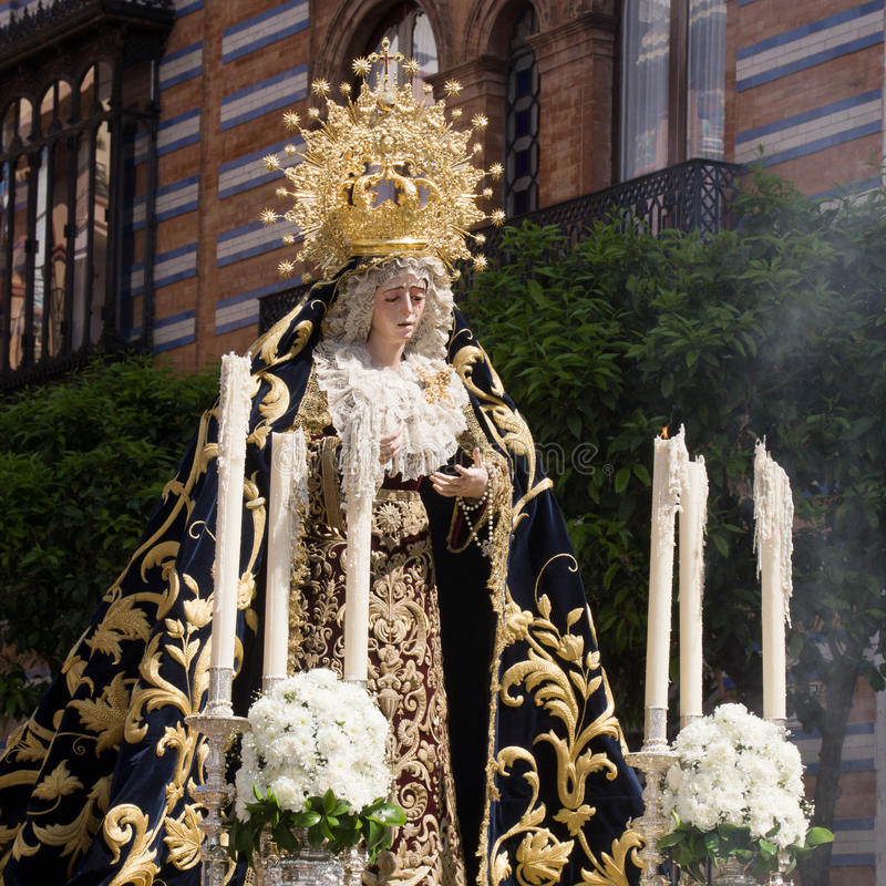 Procession with Maria Auxiliadora royalty free stock photography