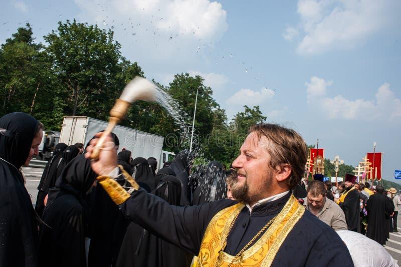 Procession for peace near Kyiv stock photos