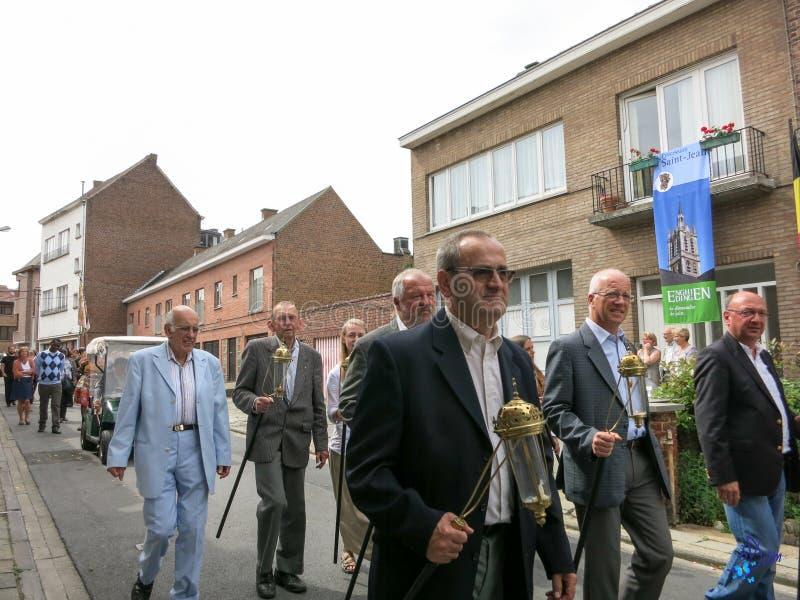 2015 - Procession Saint Jean - Enghien stock photography