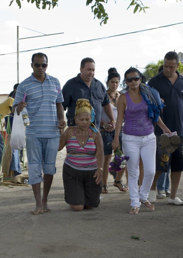 Procession to El Rincon,cuba stock photos