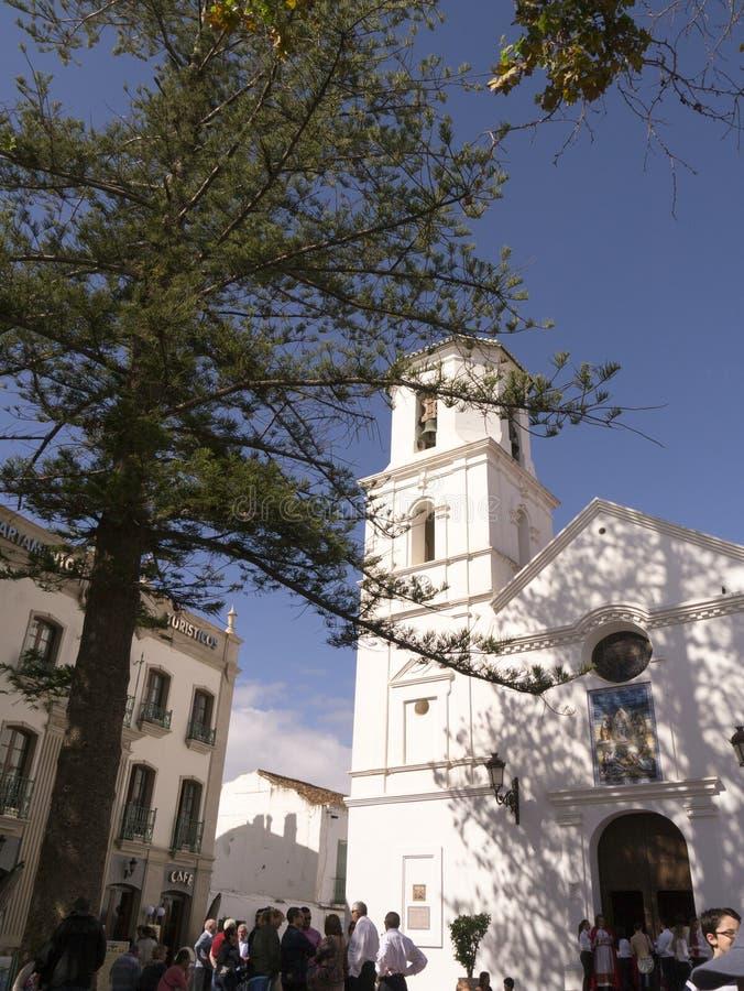 Processione di pasqua domenica a Nerja Spagna immagine stock libera da diritti