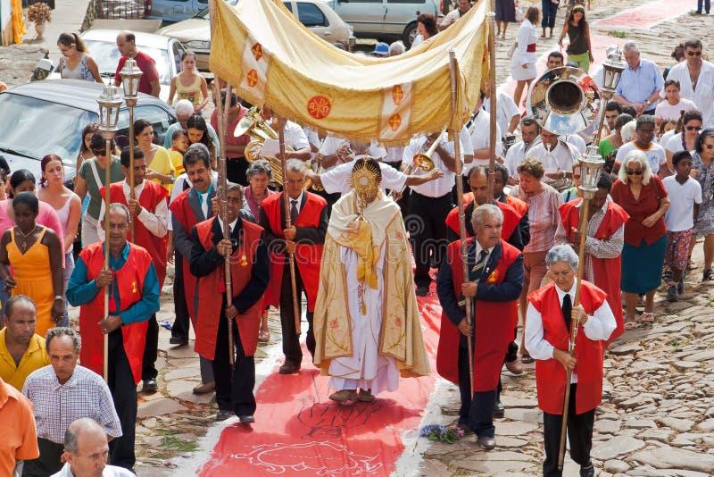 Processione orientale Tiradentes Brasile fotografia stock