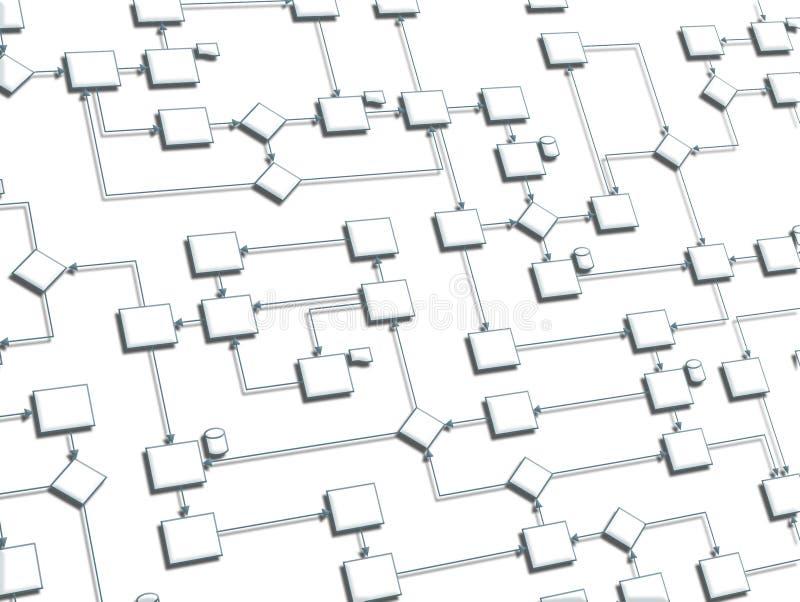 Processo 3D di affari su priorità bassa bianca royalty illustrazione gratis
