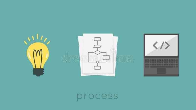 processo illustrazione di stock